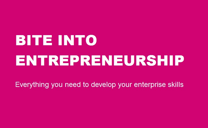 Bite into Entrepreneurship - Launch Cover